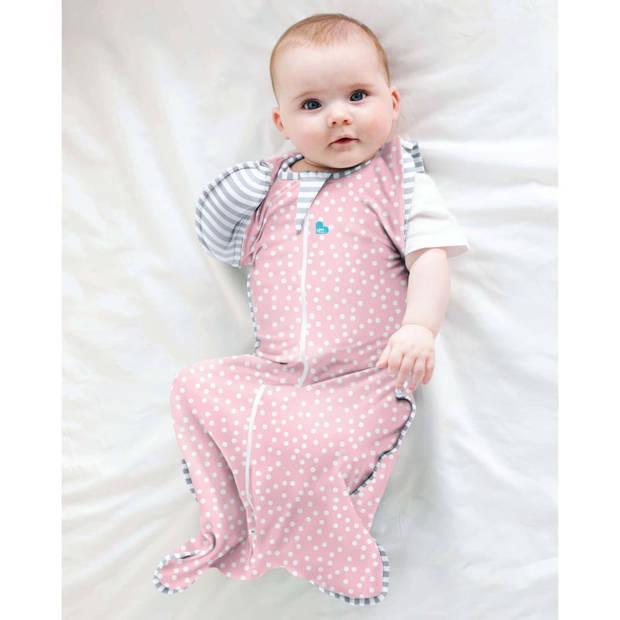 Love to Dream Babydoek Swaddle Up Transition Bag fase 2 M roze