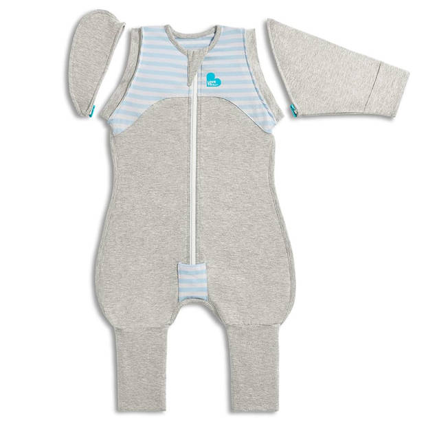 Love to Dream Babydoek Swaddle Up Transition Suit fase 2 L blauw
