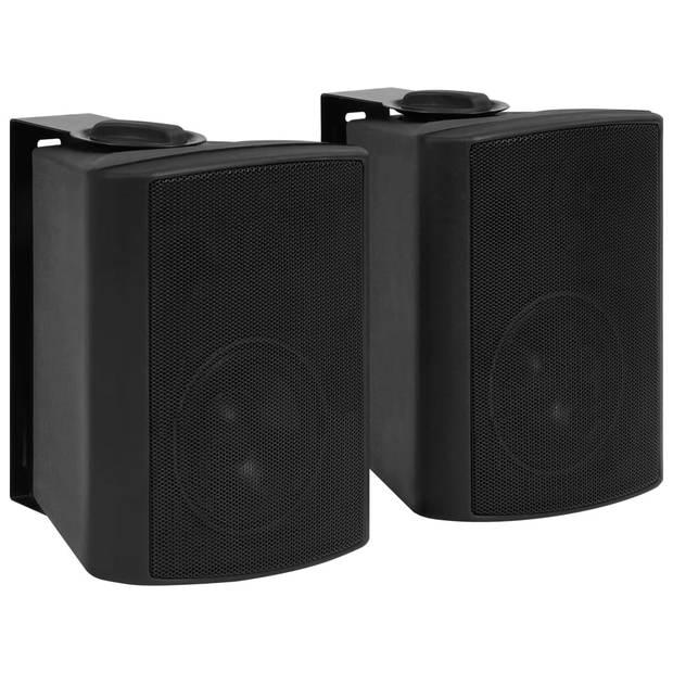 vidaXL Stereoluidsprekers wandmontage 2 st 80 W zwart