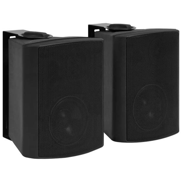 vidaXL Stereoluidsprekers wandmontage 2 st 100 W zwart
