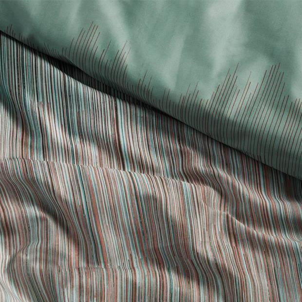 Damai Cassio dekbedovertrek - 1-persoons (140x200/220 cm + 1 sloop) - Katoen satijn - Copper Green