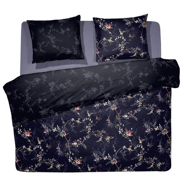 Cinderella Corolla dekbedovertrek - 2-persoons (200x200/220 cm + 2 slopen) - Katoen - Night Blue