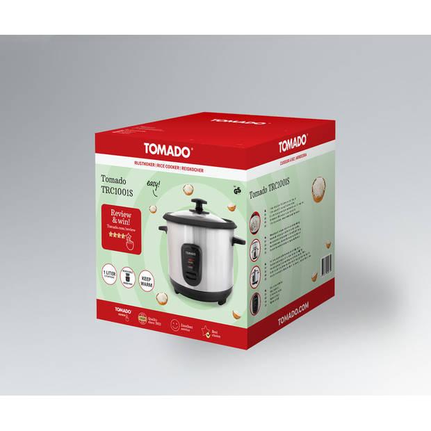 Tomado TRC1001S - rijstkoker - 5 porties - warmhoudfunctie - RVS