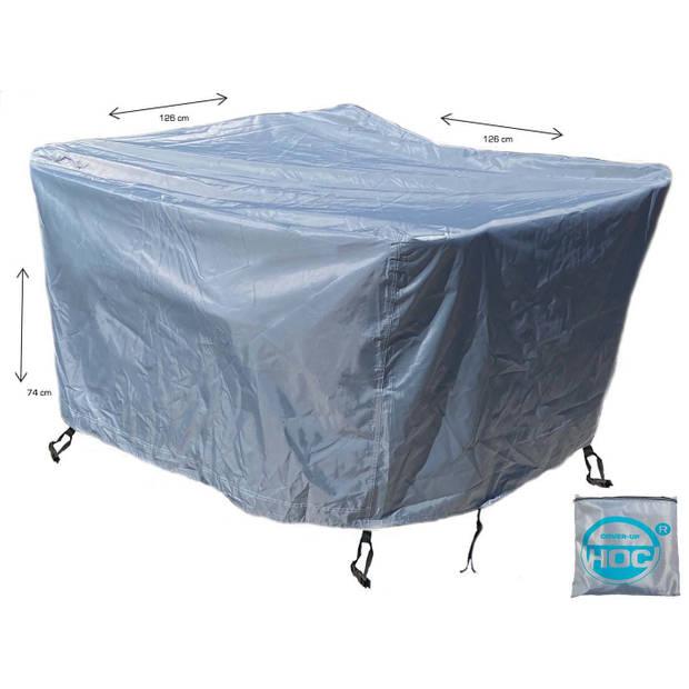 CUHOC - Diamond hoes tuinmeubelen- 126x126x74 cm - tuinset beschermhoes waterdicht met Stormbanden, Trekkoord en