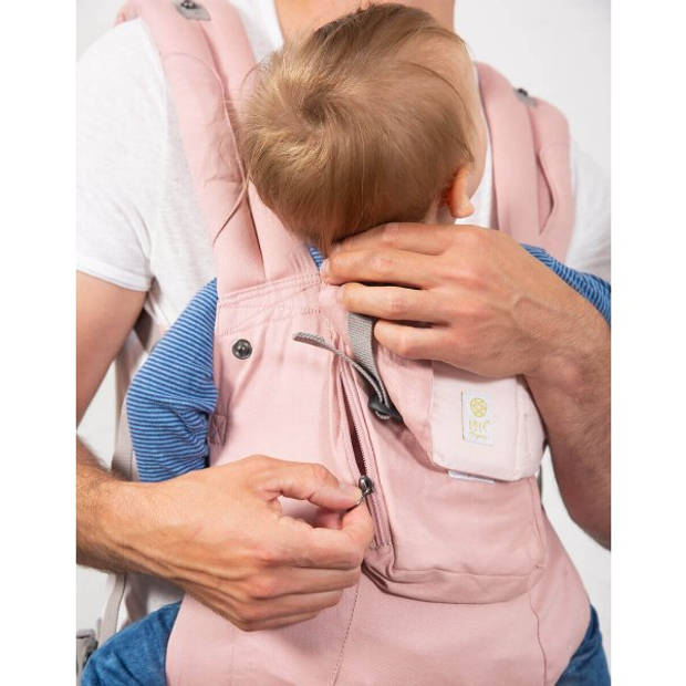 Lille Baby Draagzak Complete Organic Blushing Pink