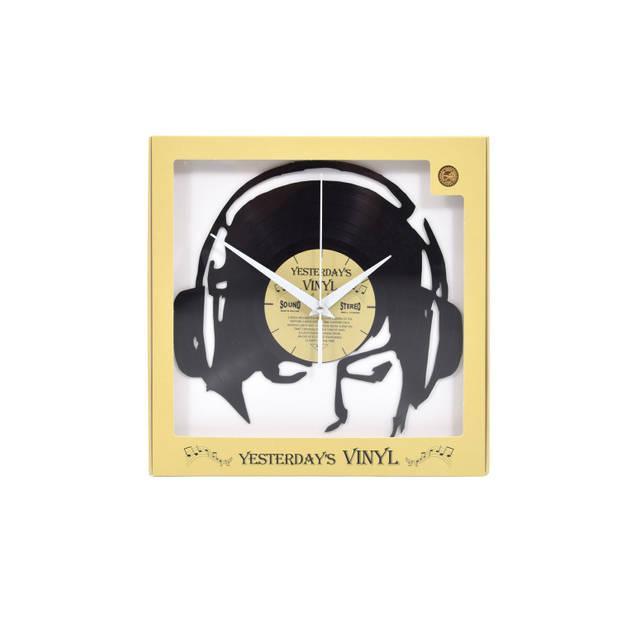 Yesterdays Vinyl Klok Koptelefoon 30 cm
