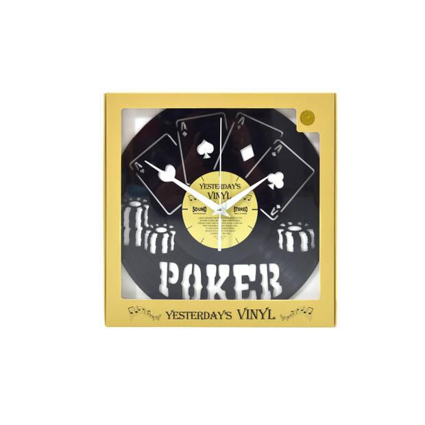 Yesterdays Vinyl Klok Pokeren 30 cm