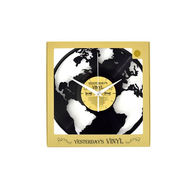 Yesterdays Vinyl Klok Wereldbol 30 cm