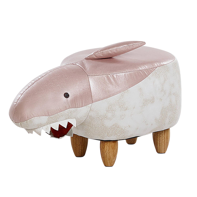 Korting Beliani Shark Hocker roze polyester