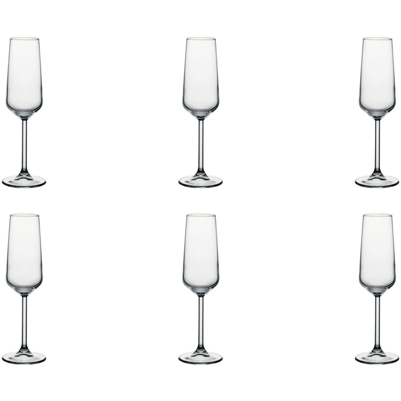 Pasabahce Champagneflûte Allegra 19.5 Cl - Transparant 6 Stuk(s)