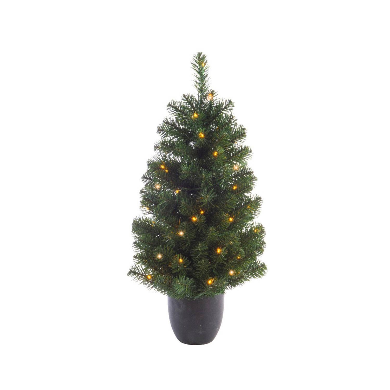 everlands kunstkerstboom in pot BUITEN 120cm 80LED