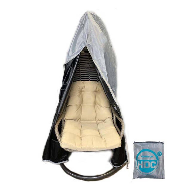 Diamond Beschermhoes Hangstoel 100x100x200 Hoes Voor Hangstoel Met Rits Van Boven Tot Onderaan En Trekkoord