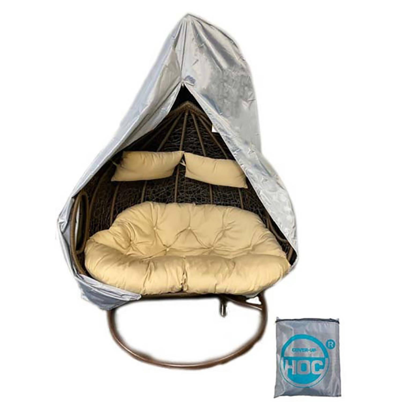 Diamond Beschermhoes Hangstoel 2 Persoons 140x125x180 Hoes Voor Hangstoel Met Rits Van Boven Tot Onderaan En Trekkoord