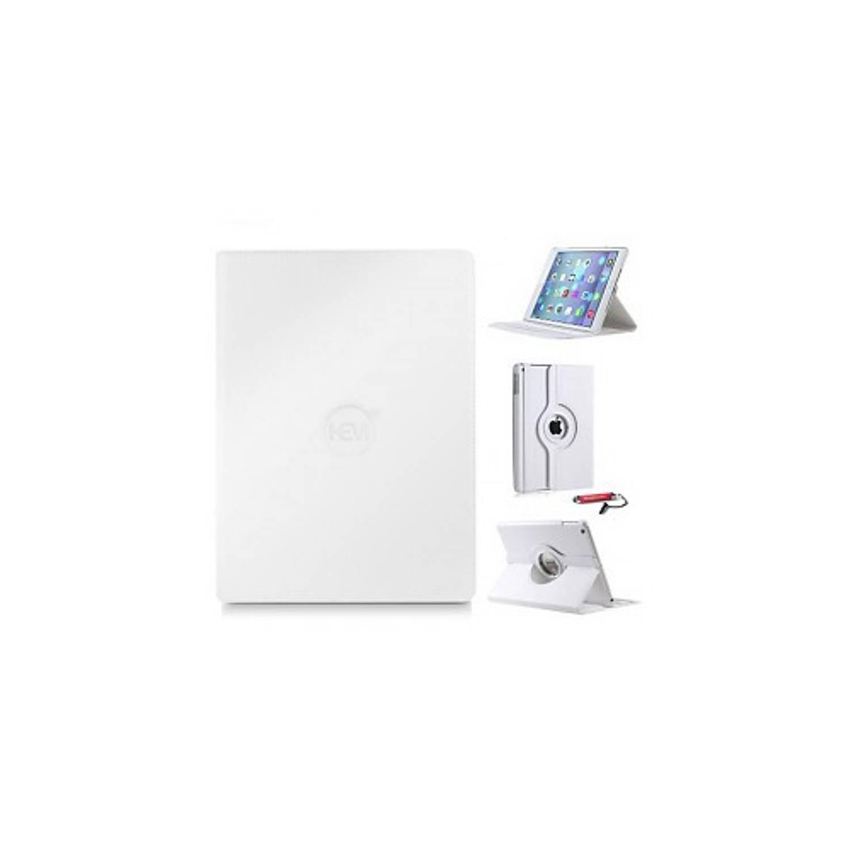 Witte 360 Graden Draaibare Hoes Apple Ipad 9,7 (2017) 5e Generatie Met Handige Styluspen