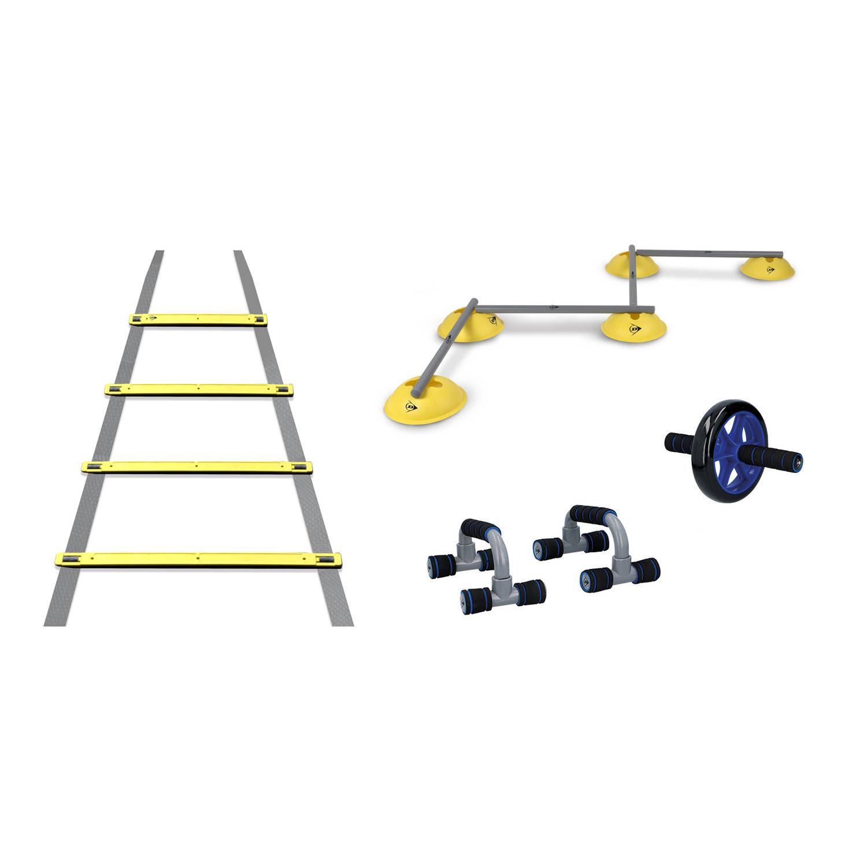 Dunlop Trainingsset Conditie En Spieropbouw Behendigheidsladder Hordenset Buikspierwiel Opdruksteun