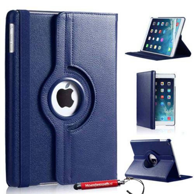 Donker Blauwe Ipad Mini 4 360 Graden Draaibare Tablethoes Met Uitschuifbare Hoesjesweb Stylus