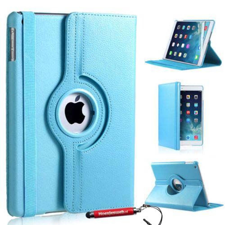 Ipad Mini 4 360 Graden Draaibare Tablethoes Licht Blauw Met Uitschuifbare Hoesjesweb Stylus