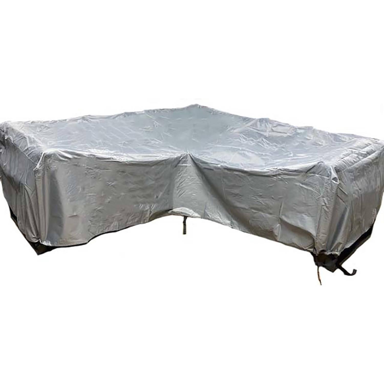 Cuhoc Diamond Hoes Hoek Vorm Loungeset 255x255x100x70 loungeset Beschermhoes Waterdicht Met Stormbanden En Trekkoord