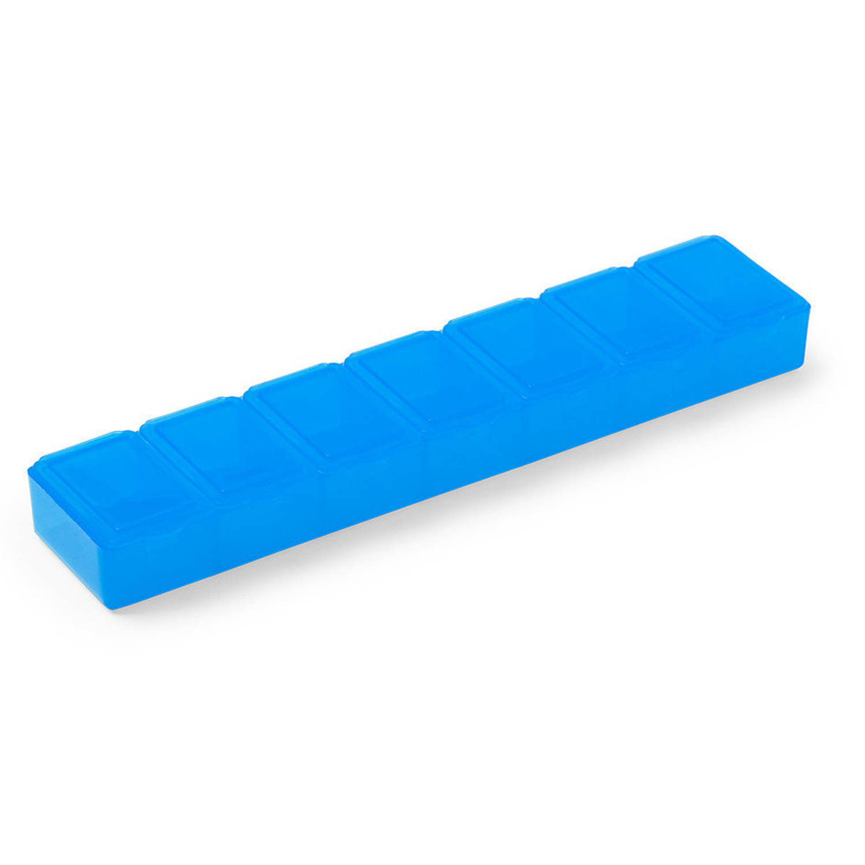 Korting 1x Medicijnen Doos pillendoos 7 Daags Blauw Transparant 15 Cm Drogisterij persoonlijke Verzorging Accessoires