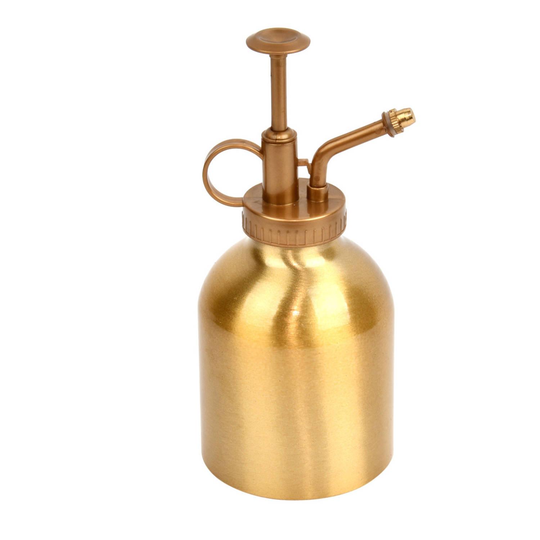 Drukspuit/plantensproeier Aluminium Goud 290 Ml - Plantenspuit - Tuinbenodigdheden - Waterverstuiver