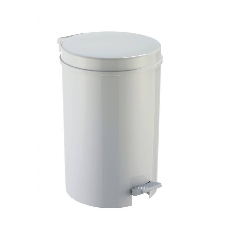 1x Grijze Pedaalemmer/vuilnisbak 39 Cm 12 Liter - Afvalemmers Badkamer/toilet/keuken