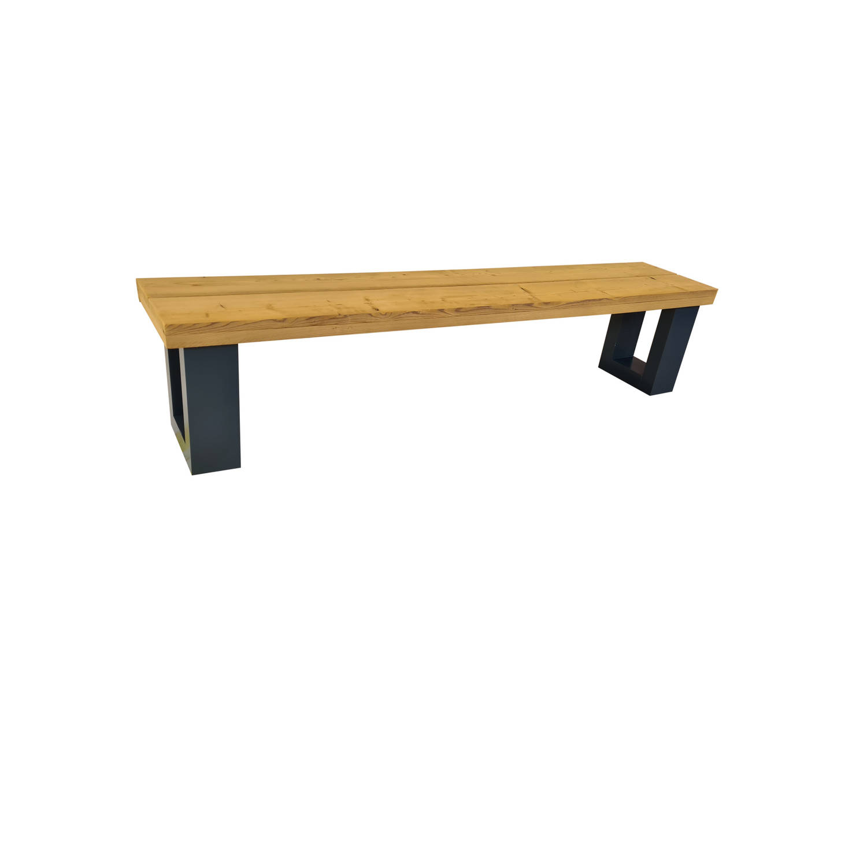 Wood4you - Bankje New England Roasted Wood 130lx40hx38d Cm