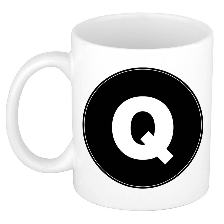 Image of Mok / Beker Met De Letter Q Voor Het Maken Van Een Naam / Woord - Koffiebeker / Koffiemok - Namen Beker