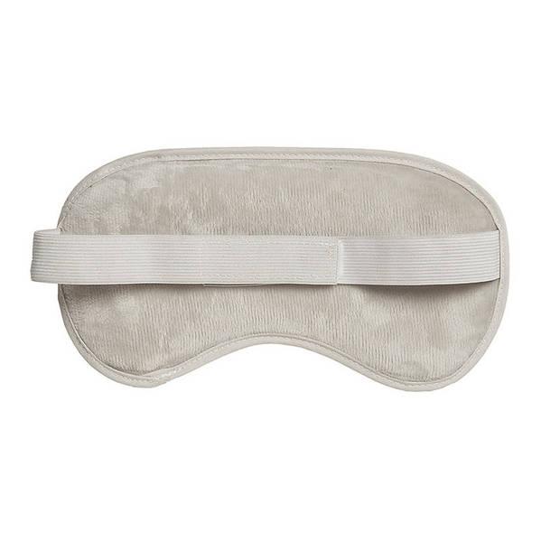 1x Gel oogmaskers/reismaskers wit 22 x 12 cm - Slaapmaskers met gel bolletjes - Koud en warm te gebruiken