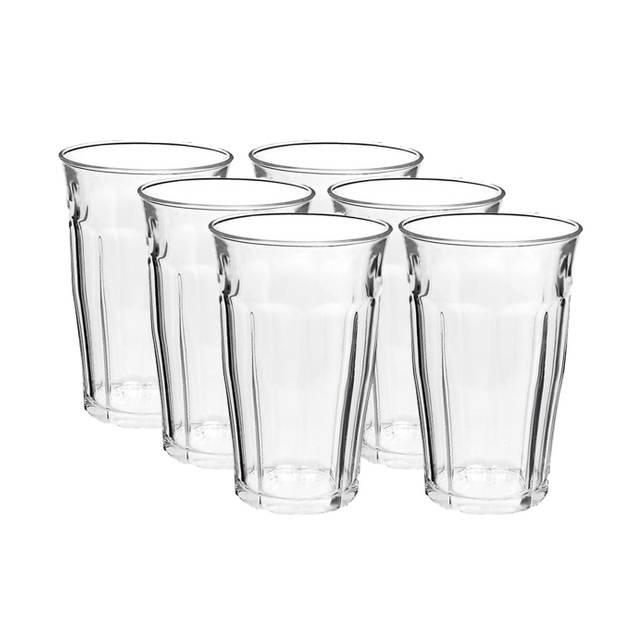 6x Longdrinkglazen 360 ml - 36 cl - Longdrink glazen - Water/sap/koffie/thee glazen - Longdrink glazen van glas