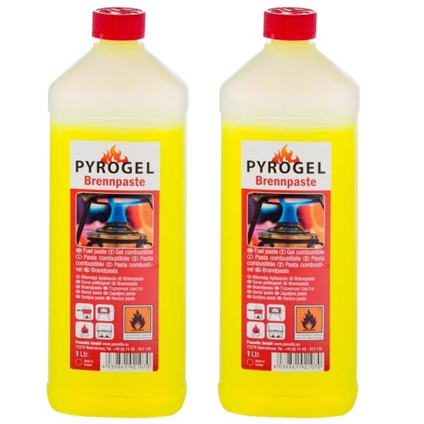 Brandpasta op fles - 2 liter - Brandgel - Aanmaak gel BBQ aanmaken - Barbeque accesoires benodigdheden