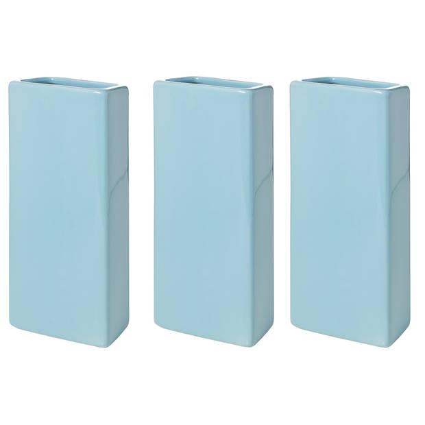 3x Blauwe/turqoise radiator luchtbevochtigers 21 cm - verdampers