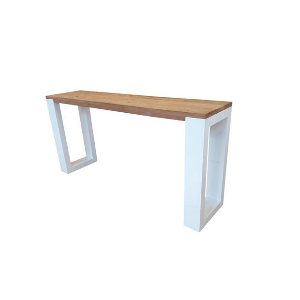 Wood4you - Wandtafel enkel Roastedwood 160Lx78HX38D cm