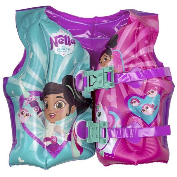 Nickelodeon zwemvest Nella meisjes 40 cm roze/groen 3-6 jaar
