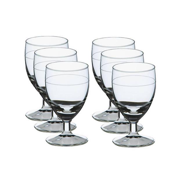 6x Likeur/borrelglazen transparant 35 ml Gilde serie - 3.5 cl