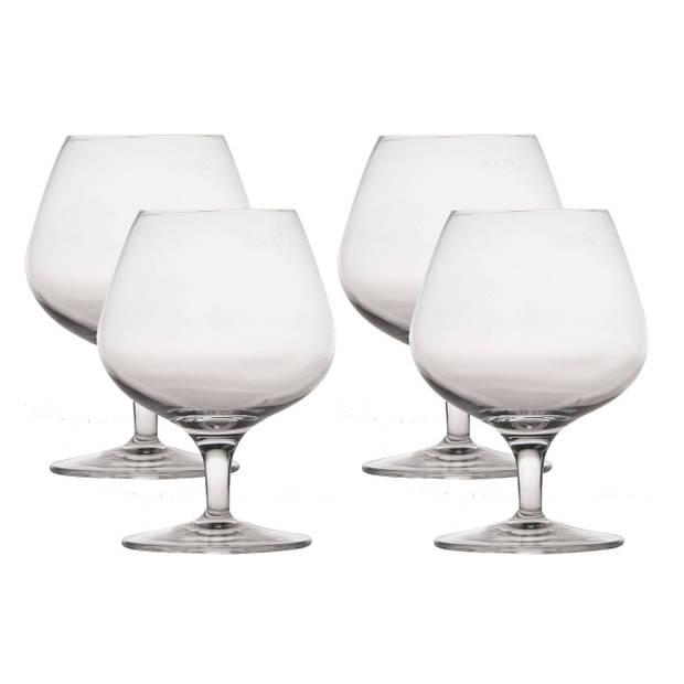 4x Luxe cognacglazen transparant 395 ml Michelangelo Master - Whisky - Cognac glazen