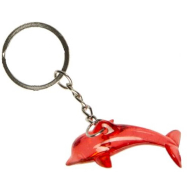 Korting Lg imports Sleutelhanger Dolfijn Junior 4,2 Cm Rood