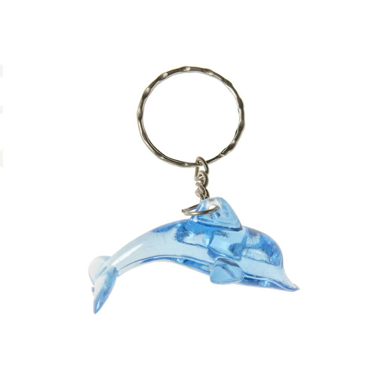 Korting Lg imports Sleutelhanger Dolfijn Junior 4,5 Cm Blauw