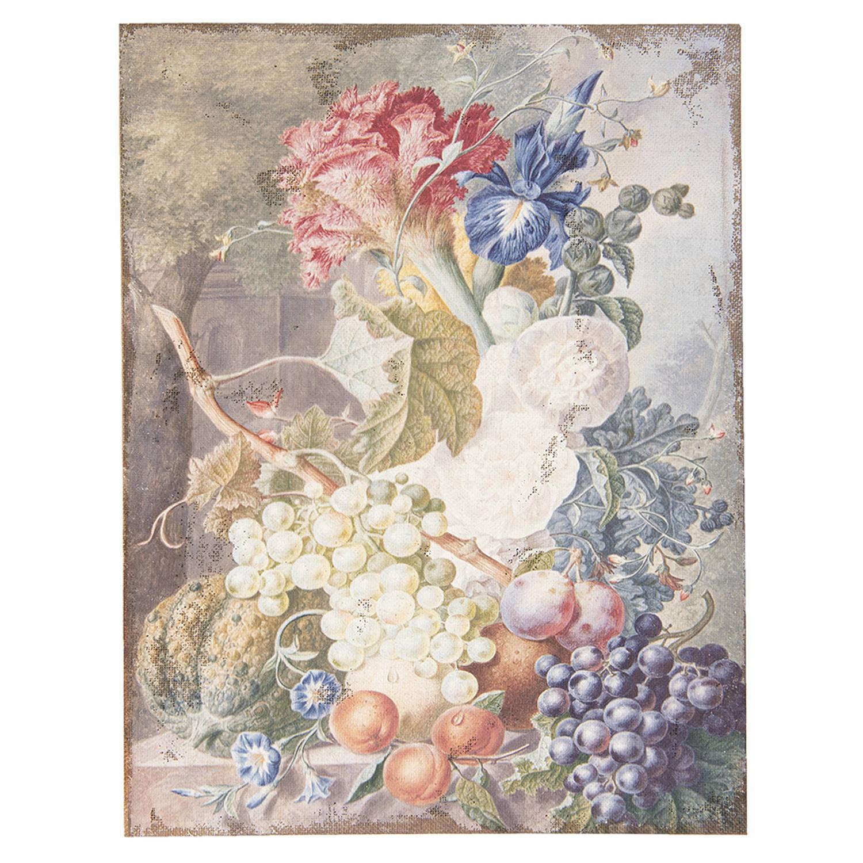 Clayre & Eef Schilderij 50449 55*3*73 Cm - Meerkleurig Jute