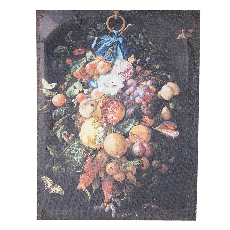 Clayre & Eef Schilderij 50450 55*3*73 Cm - Meerkleurig Jute