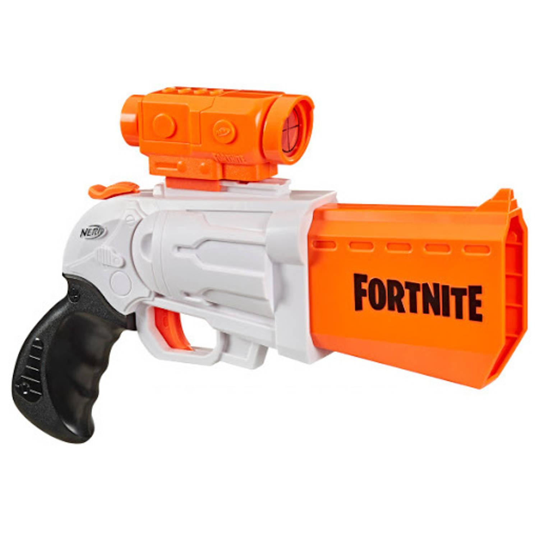 NERF blaster Fortnite SR 35,6 cm wit/oranje 9 delig