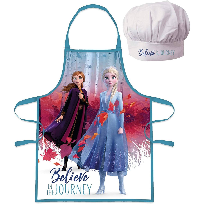 Frozen Schort En Koksmuts Meisjes 36 Cm Polyester Blauw