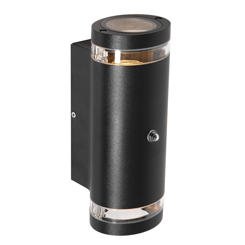Steinhauer Buitenlamp Panay Incl. Led 2 Lichts Dag Nacht Sensor Zwart