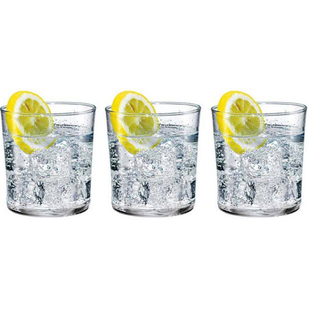 6x Stuks waterglazen/sapglazen 370 ml - Bodega - Drinkglazen - Water/sapglas