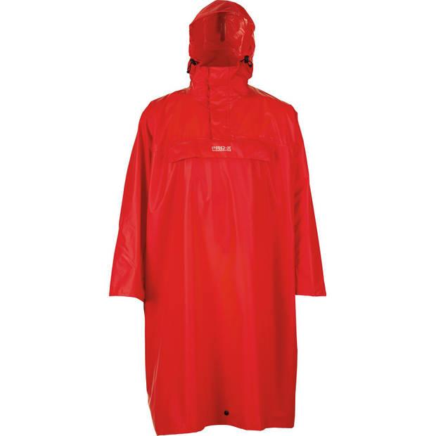 Pro-X Elements regenponcho High Peak polyester rood