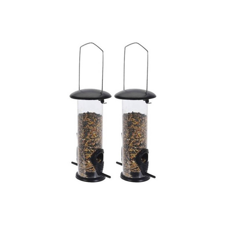 Pro Garden 2x Tuinvogels Hangende Voeder Silo 23 Cm Winter Vogelvoer Huisjes online kopen