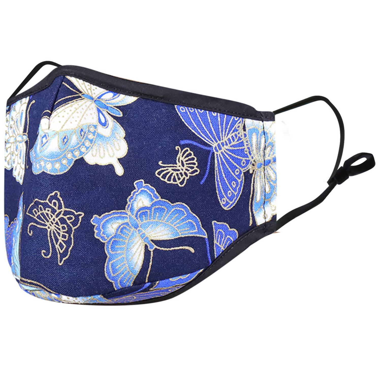 Korting Imoshion Herbruikbaar, Wasbaar Mondkapje 3 laags Katoen Blauwe Vlinder