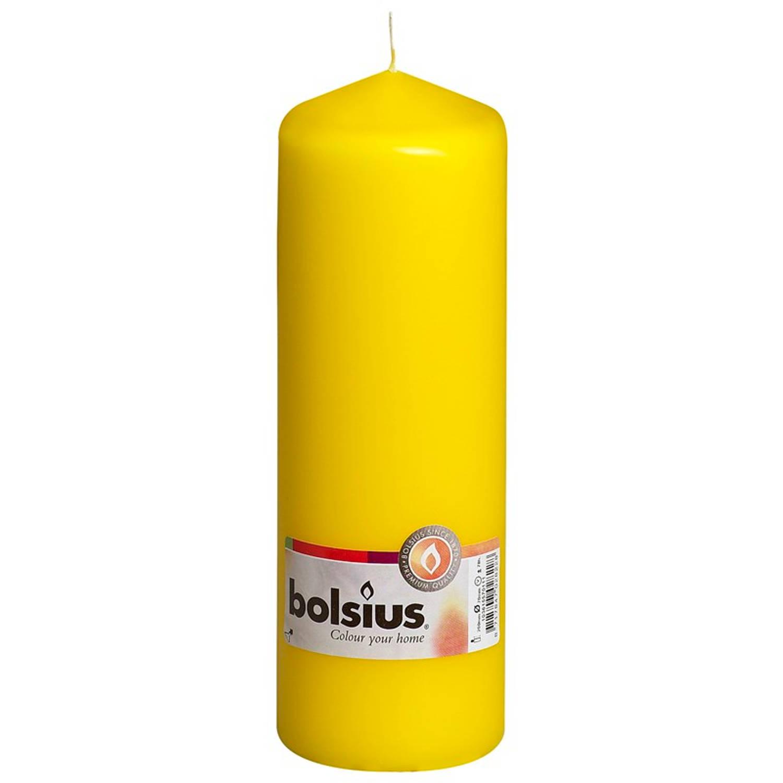 Korting Bolsius Stompkaars 200 68mm Geel