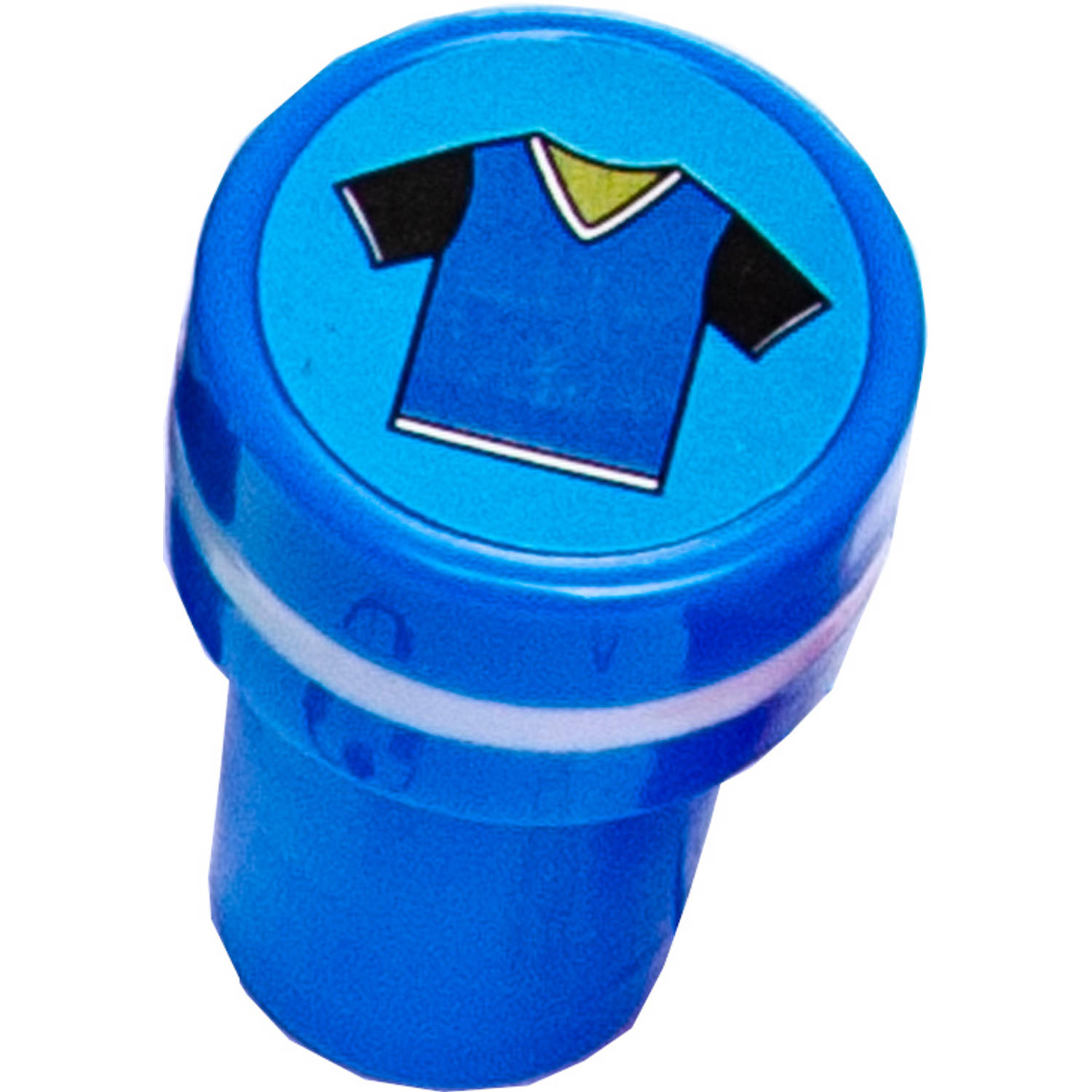 Korting Lg imports Stempel Voetbaltroffee Junior 4 X 2,5 Cm Blauw