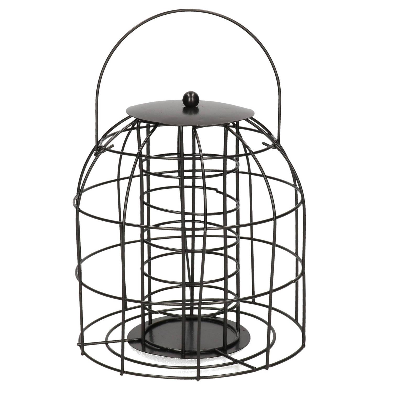 Merkloos 1x Vogel Voedersilo/voederkooi Voor Mezenbollen Metaal 18 Cm Voor Mussen/mezen Kleine Vogeltjes -Winter Voeder Huisjes online kopen