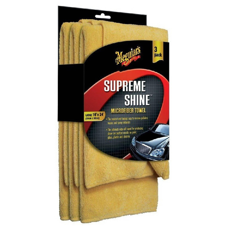 Image of Sumex Microvezeldoekjes Supreme Shine Polyester Geel 3 Stuks